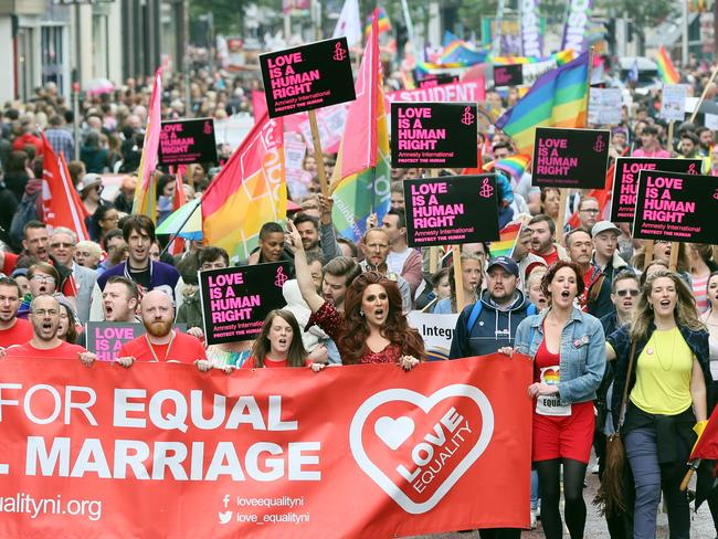 Australian Christians support same-sex marriage changes according to a new poll. Picture: AFP