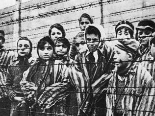 Child prisoners at Auschwitz.