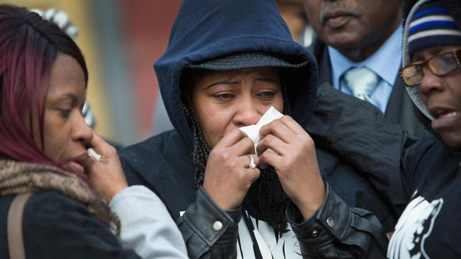 Quintonio LeGrier's grieving family says the teenager was no threat to police when he was fatally shot. Picture: Scott Olson