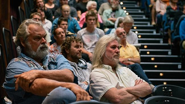 Audience members listen intently at the shark forum in Margaret River. Picture: Elements Margaret River