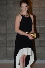 Amanda Wheeler arrives at the Test dinner. Picture: Naomi Jellicoe