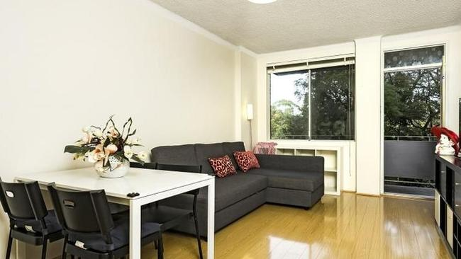 An apartment listed in Lane Cove North which is also one of Australia's fastest selling suburbs. Picture: realestate.com.au
