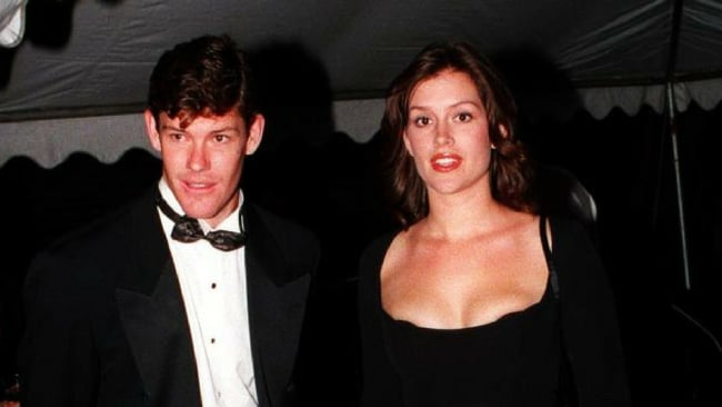 James Packer with Kate Fischer at a party in March 1997. Photo: News Limited