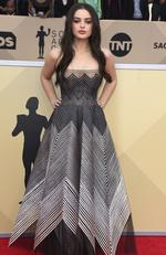 Odeya Rush arrives at the 24th annual Screen Actors Guild Awards at the Shrine Auditorium Expo Hall on Sunday, Jan. 21, 2018, in Los Angeles. Picture: Jordan Strauss/Invision/AP