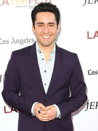 Actor John Lloyd Young attends the premiere of  <i>Jersey Boys</i>.