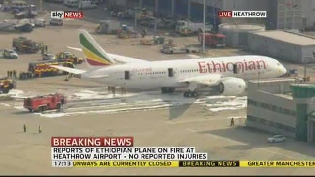 Ethiopian Airlines Dreamliner fire at Heathrow a blow to ...