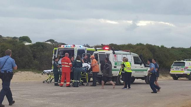 The aftermath of the attack in Esperance that killed a 17-year-old girl. Source: Twitter