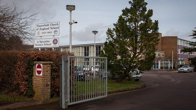 Police said they were aware of the matter while the school, pictured, said it was thoroughly investigating.