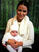Australian actress Jodi Gordon and adorable baby daughter Aleeia stop by the KIIS FM office. Picture: Instagram