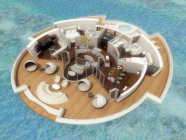 It's a cross between a yacht, submarine and a hotel. Picture: MPD-Designs