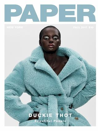 That is now gracing the cover of Paper magazine.