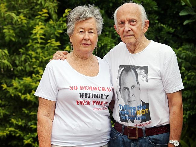Fighting for freedom ... Peter Greste's parents, Lois and Juris, have been outspoken about their son's detainment. Picture: Tara Croser.