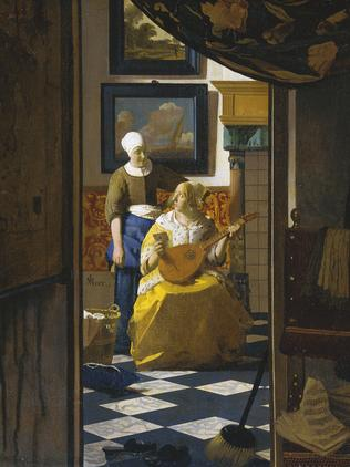 An example of Johannes Vermeer's work, The Love Letter, was displayed in Australia as part of an exhibition of the Dutch Masters.