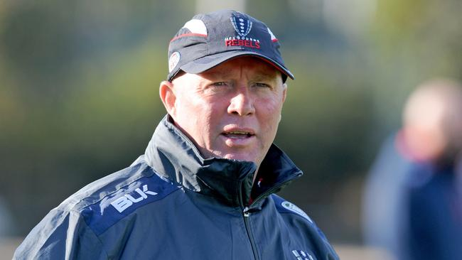 Outgoing Rebels coach Tony McGahan. Picture: AAP
