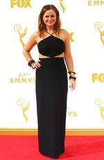 Amy Poehler attends the 67th Annual Primetime Emmy Awards in Los Angeles. Picture: Getty