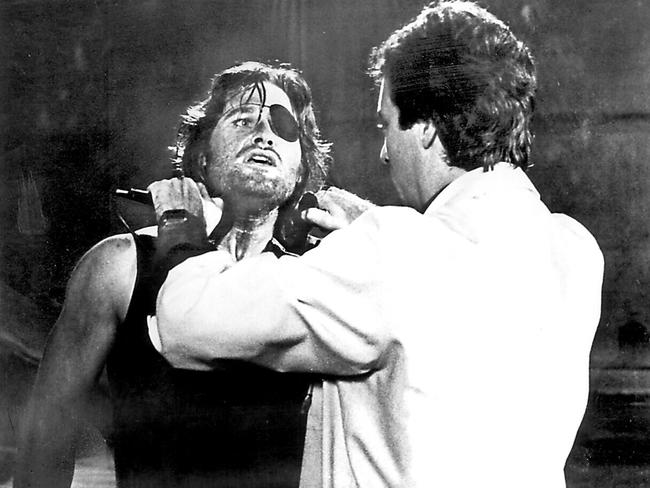 Iconic ... Russell as Snake Plissken in Escape From New York — surely the best named character, ever.