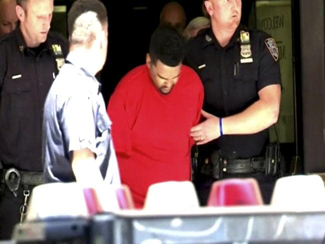 Richard Rojas from the Midtown South Precinct station house in New York, Thursday, May 18, 2017. Picture: AP.
