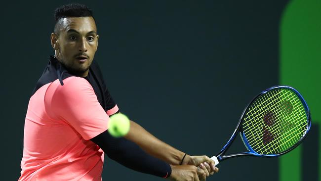 Nick Kyrgios has returned serve at a Twitter troll. Picture: Getty Images