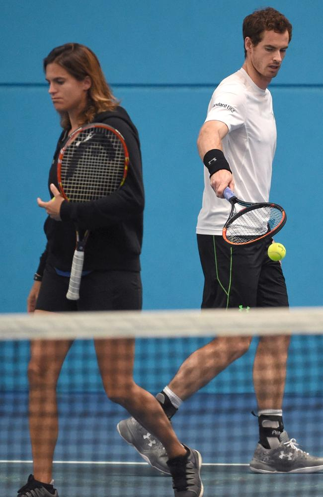 Amelie Mauresmo and Andy Murray have dissolved their partnership.
