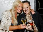 Brynne and Geoffrey Edelsten at the opening launch of Mon Bijou Penthouse. Picture: Julie Kiriacoudis