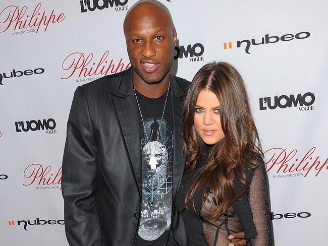 Lamar Odom with ex-wife Khloe Kardashian.
