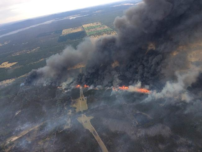 A fire at Mooralla, one of 66 across the state yesterday. Picture: State Control Centre Facebook