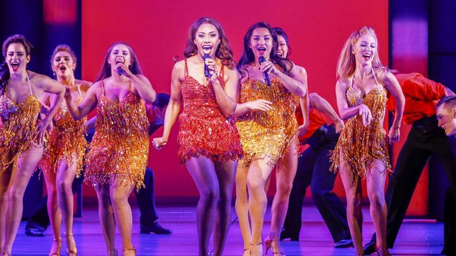 Paulini performs during The Bodyguard