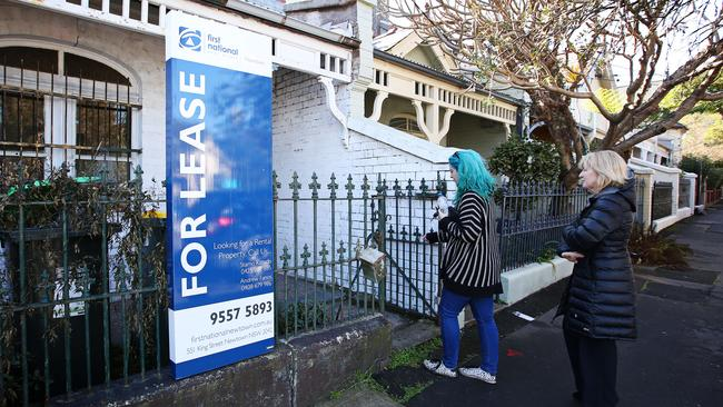 A rental property open for inspection in Newtown in Sydney's inner west. Photographer: Adam Yip