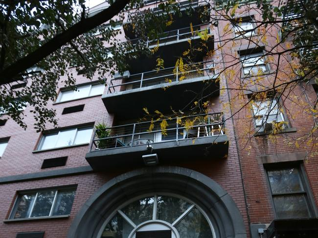 The Lower East Side building where diplomat Julian Simpson fell to his death.