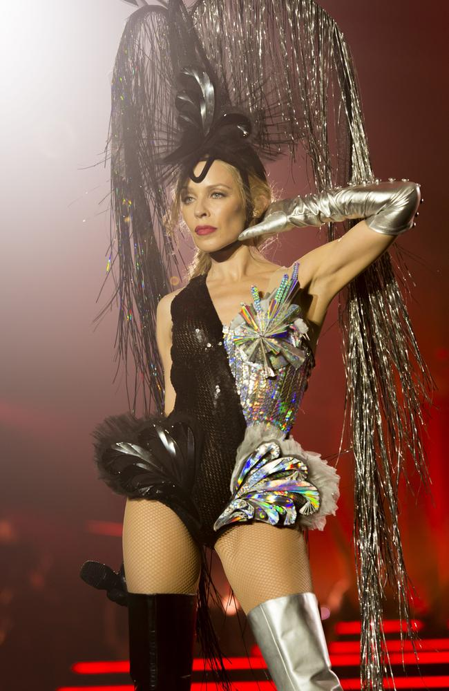 Dr Jekyll and Ms Fabulous ... Minogue shows her dark side, and her sparkly one.