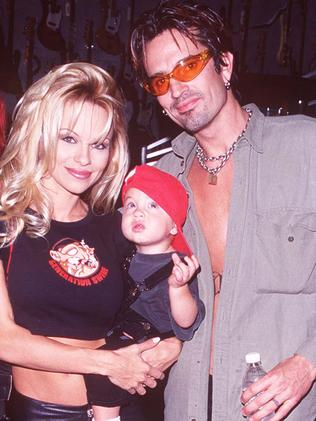 Brandon Lee, Tommy Lee and Pamela Anderson. Picture: Supplied