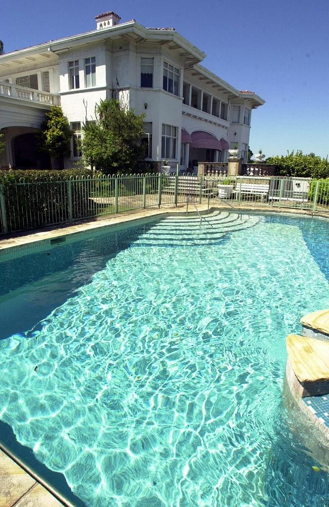 Swimming pool of businessman Peter Abeles' mansion Villa Igiea in Vaucluse. Picture: Frank Violi