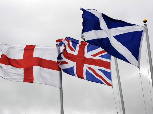 The UK flag could change if Scotland votes for independence. Pic: AFP.