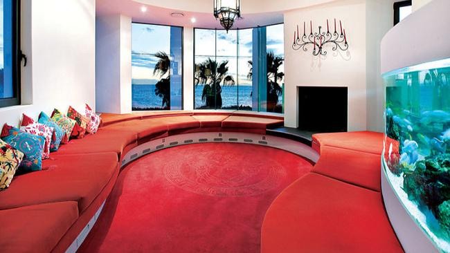 329 Beach Rd, Black Rock. The home has a 'Red Room' featuring a 3.6m aquarium.