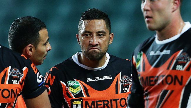 Benched Tiger Benji Marshall. Picture: Costello Brett