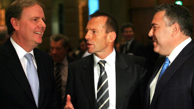 Peter Costello, withy Tony Abbott and Joe Hockey.