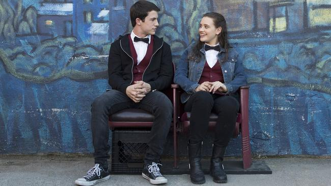 Dylan Minnette and Katherine Langford star in 13 Reasons Why.