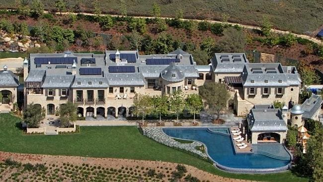 Tom Brady and Gisele Bündchen's Brentwood mansion with a moat to separate them from the rest of the world. Picture: Supplied.
