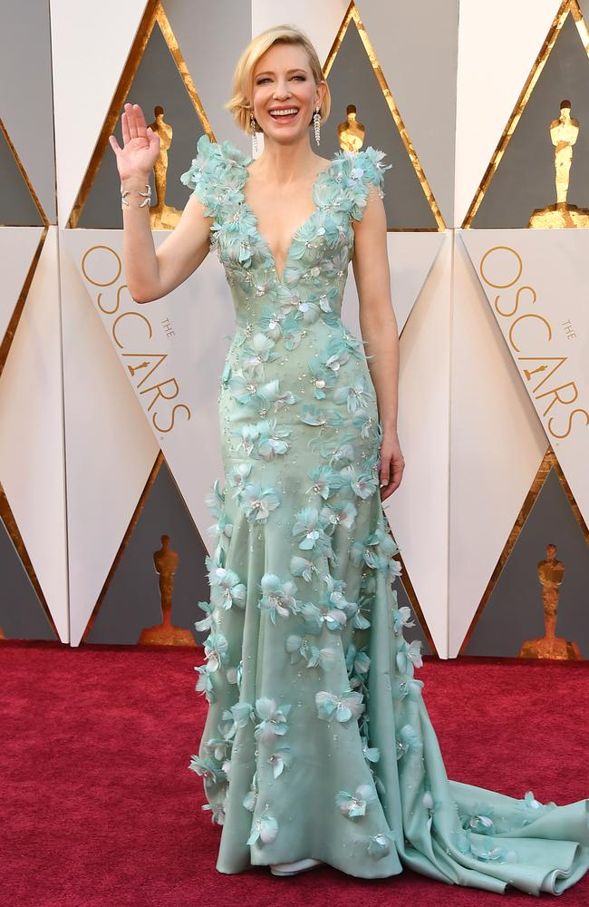 Cate Blanchett attends the 88th Annual Academy Awards on February 28, 2016 in Hollywood, California. Picture: AP