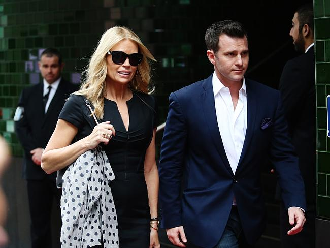 Sonia Kruger and David Campbell from Channel 9's Morning Show arrive for the memorial.
