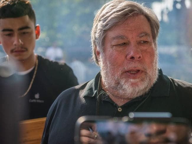 Steve Wozniak at the iPhone8 launch. Picture: Supplied