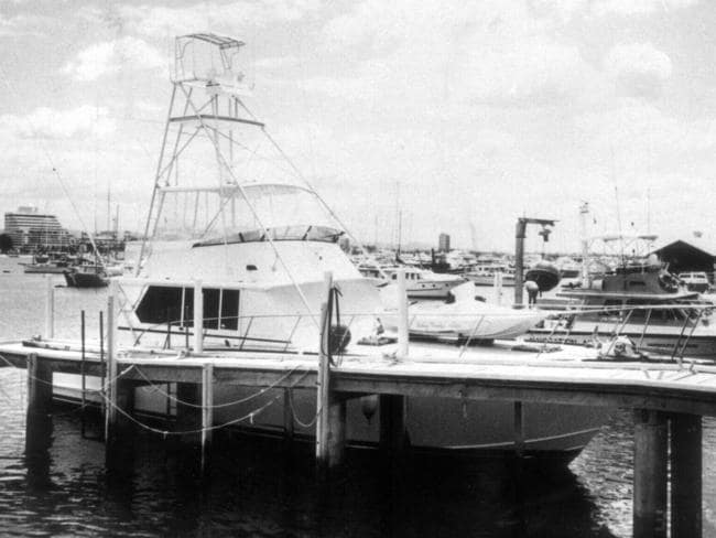 A boat used by drug dealer Ian Hall Saxon to import 10 tons of cannabis resin into Australia in 1989