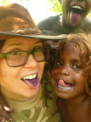Emma Bell with children from Maningrida. Picture: Facebook