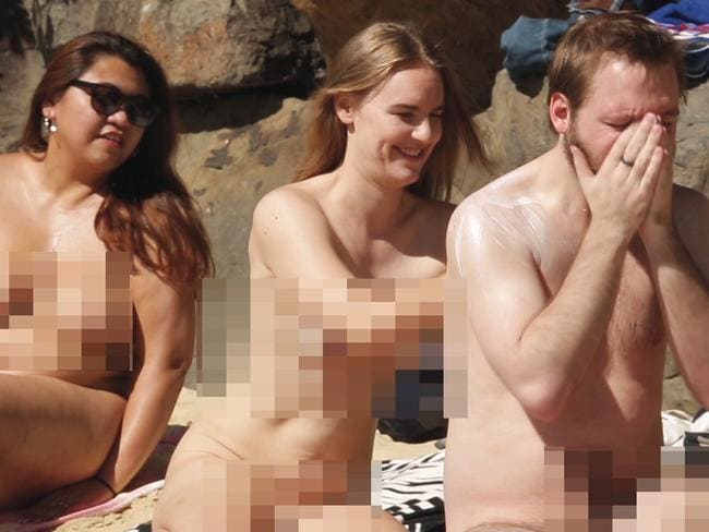 Sunscreen is important when you are completely nude at the beach. Picture: news.com.au
