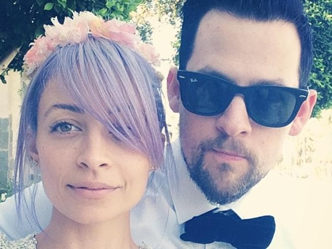 Nicole Richie and Joel Madden pose for a selfie on Instagram.