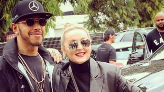 Where else but at the Melbourne Grand Prix could you 'bump' into Lewis Hamilton