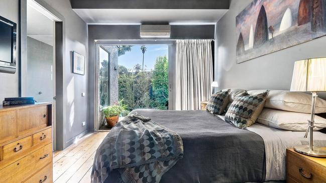 9 Irymple Ave, St Kilda, shows grey is also a colour of choice inside.