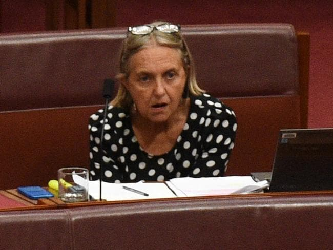 Showing the strain. Greens Senator Lee Rhiannon. Picture: AAP Image/Mick Tsikas