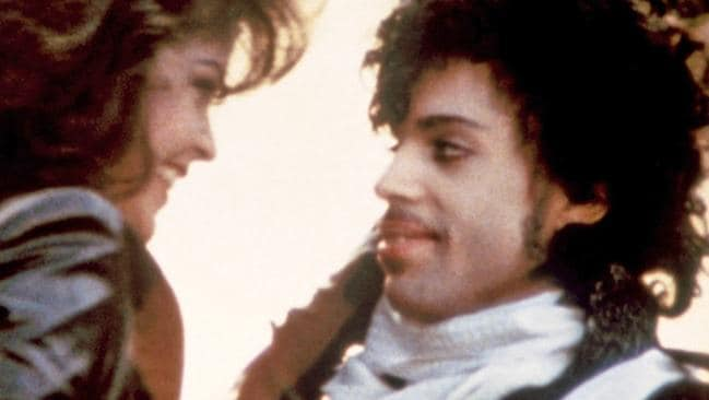 Apollonia Kotero with Prince in Purple Rain.