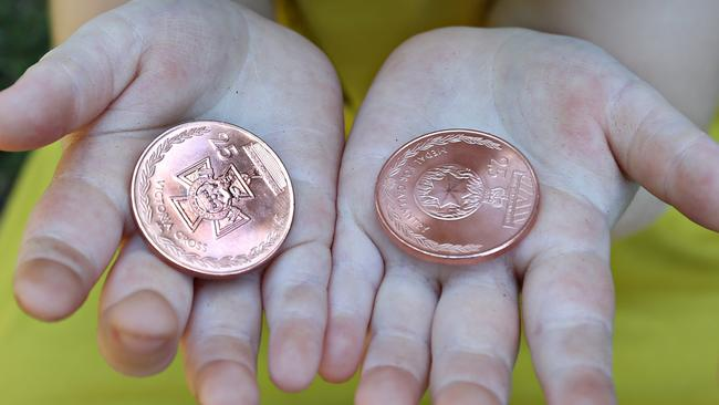 Some of the available coins. Picture: Annette Dew